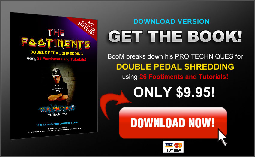 Double Pedal drumming tutorial book